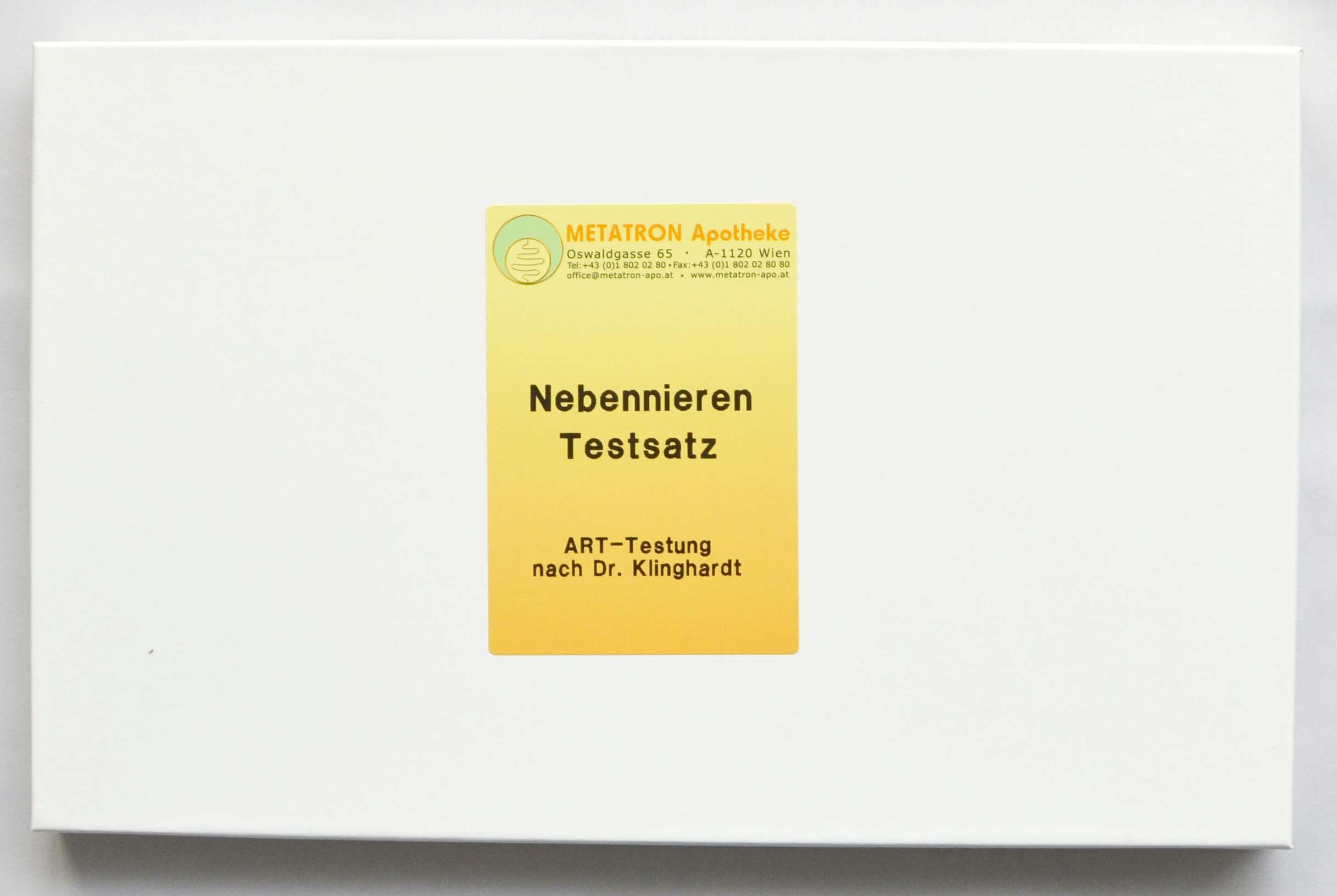 Testsatz Nebenniere | Testsätze | Webshop | Metatron Apotheke ...