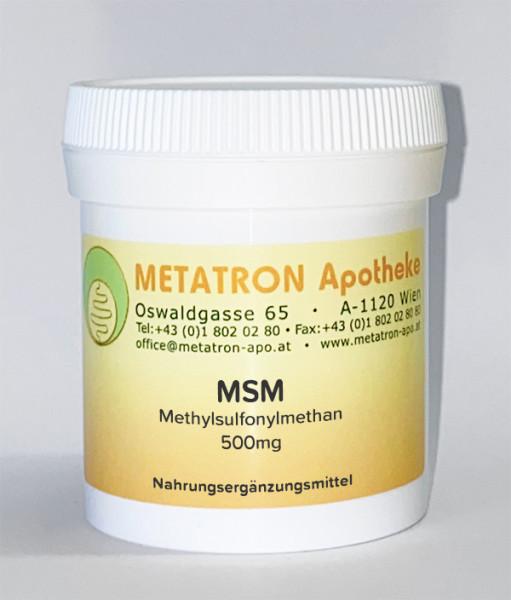 MSM - Methylsulfonylmethan